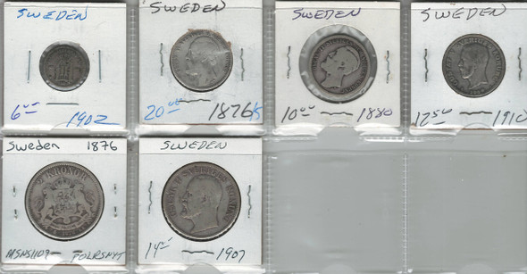 Sweden Lot of 86 coins from 1635-1910