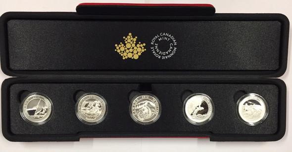 Canada: 2015 $10 Adventure Canada 5 Piece Pure Silver Coin Set
