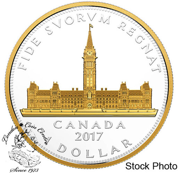 Canada: 2017 $1 Commemorative Royal Visit - Parliament Building Pure Silver Coin