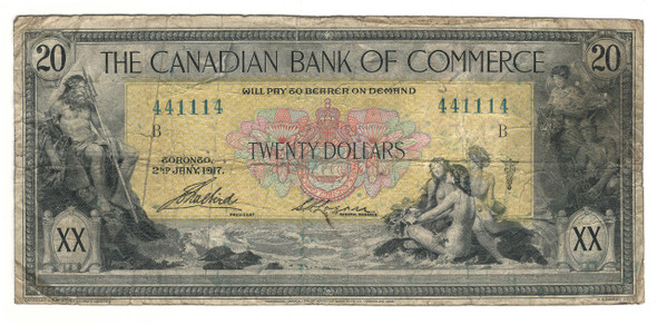 Canada: 1917 $20 Banknote - The Canadian Bank of Commerce 441114