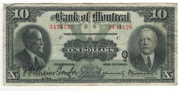 Canada: 1923 $10 Banknote - Bank of Montreal 3434128