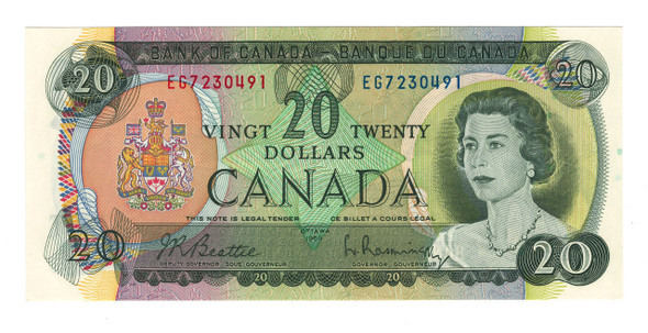 Canada: 1969 $20 Banknote Bank of Canada Lot#10