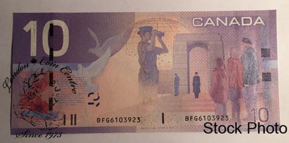 Canada: 2008 $10 Bank Of Canada Banknote BC-68b