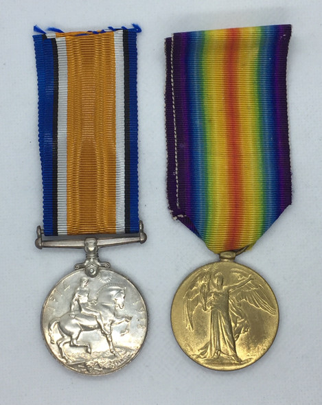 British War & Allied Victory Medal Pair - Canadian Infantry WWI 1914-1919