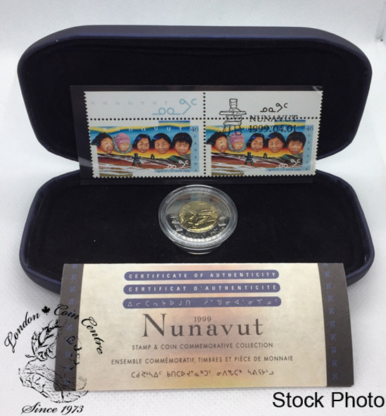 Canada: 1999 $2 Nunavut Commemorative Coin and Stamp Set