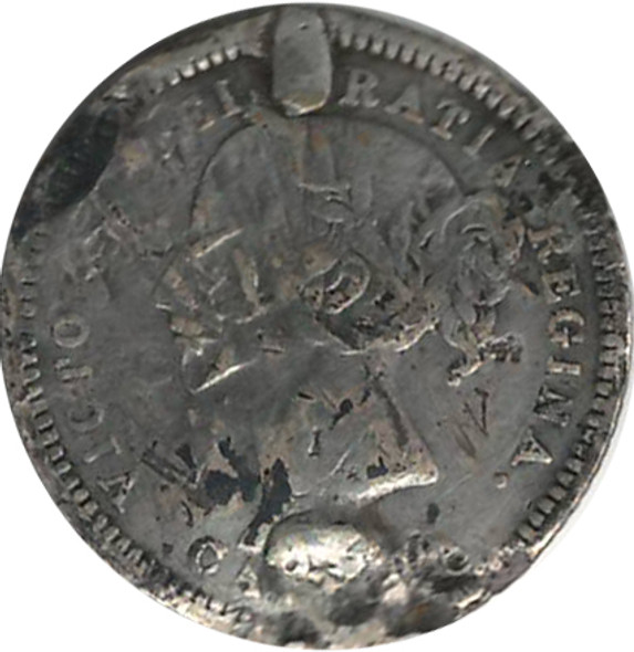 """Love Token: """"BB"""" on Victorian Canadian 10 Cent Host Coin"""
