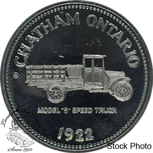 "Canada: 1978 Chatham Ontario 1922 Model ""S"" Speed Truck Trade Dollar"