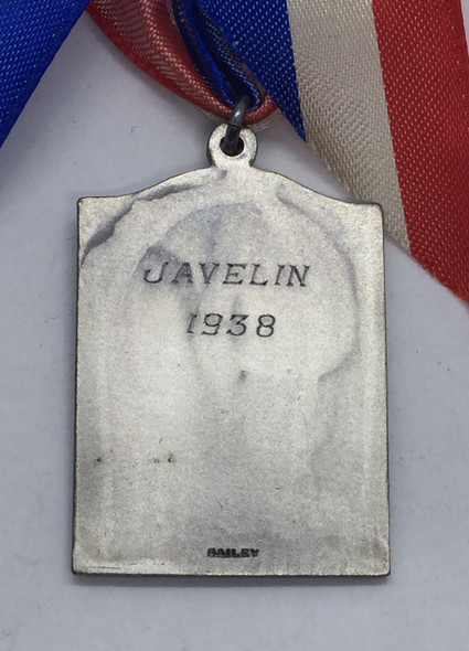 Canada: 1938 A.A.U.C. Amateur Athletic Union of Canada Ontario Branch Javelin Silver Medal