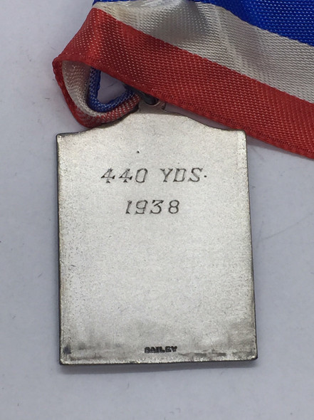 Canada: 1938 A.A.U.C. Amateur Athletic Union of Canada Ontario Branch 440 Yards Silver Medal