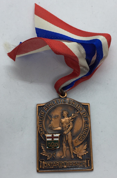 Canada: 1938 A.A.U.C. Amateur Athletic Union of Canada Ontario Branch Javelin Bronze Medal