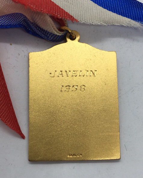 Canada: 1938 A.A.U.C. Amateur Athletic Union of Canada Ontario Branch Javelin Gold Medal