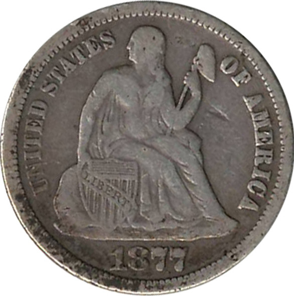 """Love Token: """"AMT"""" On US 1877, 10 Cent Host Coin"""