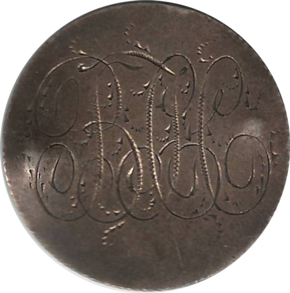 """Love Token: """"BCC"""" on 1871 Victorian Canadian 25 Cent Host Coin"""