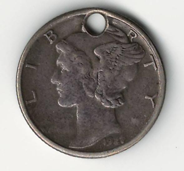 "Love Token: ""BJP"" On US 1927, 10 Cent Host Coin"