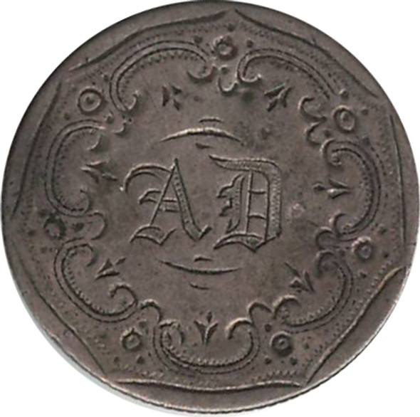 """Love Token: """"AD"""" On US 1853, 10 Cent Host Coin"""