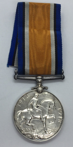 British War Medal -Canadian Infantry WWI 1914-1918 PTE R.R.C. Demont Morency