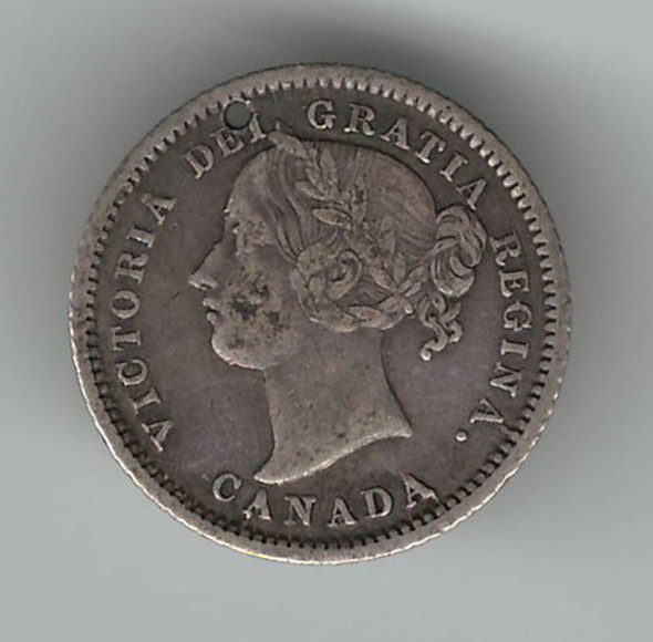"""Love Token: """"AMA"""" on Victorian Canadian 10 Cent Host Coin"""