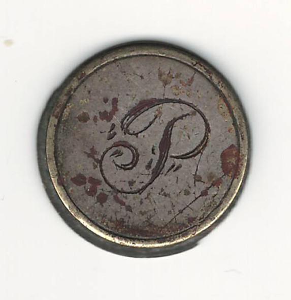 "Love Token: ""P"" On Blank Host Coin / Planchet"