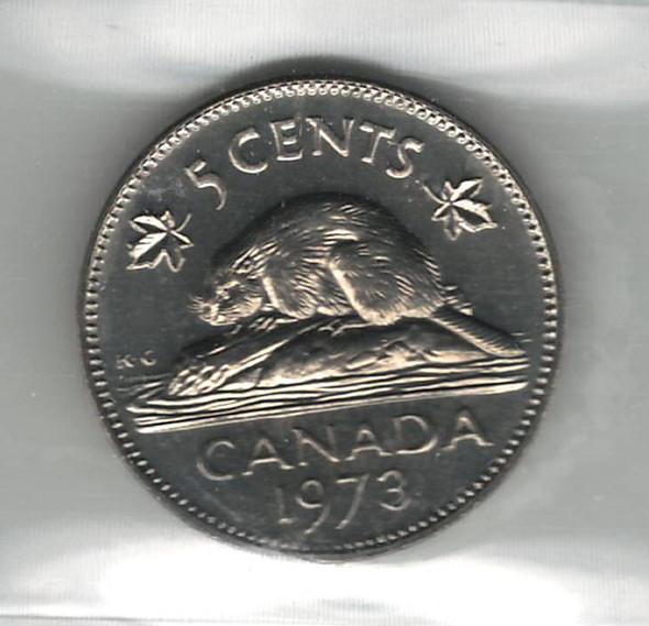 Canada: 1973 5 Cent ICCS MS65