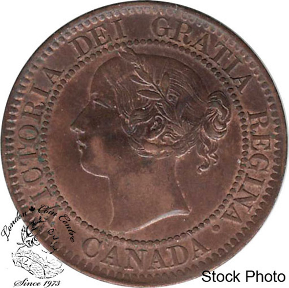 Canada: 1859 1 Cent Narrow Low 9 MS60 Brown