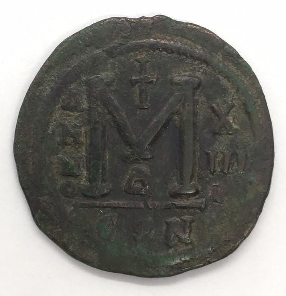 Byzantine: Justinian I the Great AD 527-565. AE follis or 40 nummi