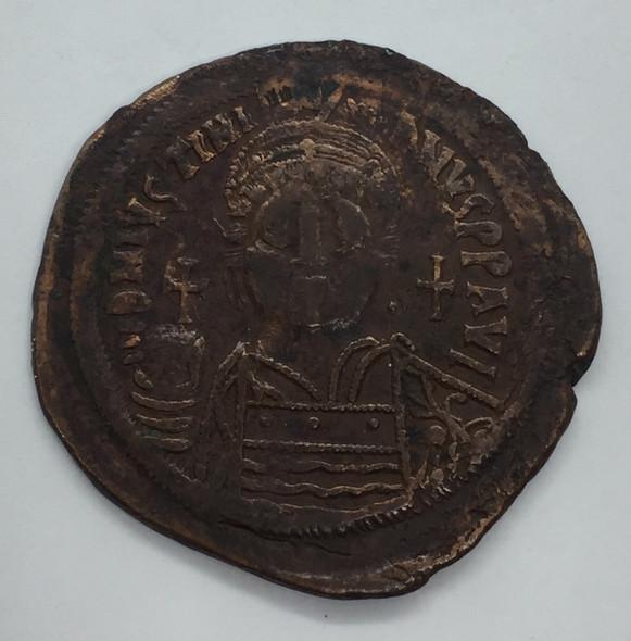 Byzantine: Justinian I the Great AD 527-565. AE follis or 40 nummi Lot#3