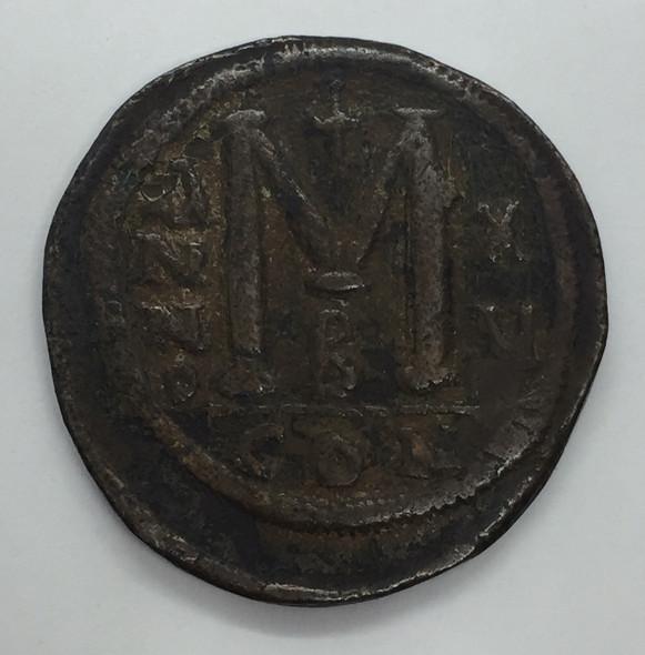 Byzantine: Justinian I the Great AD 527-565. AE follis or 40 nummi Lot#4