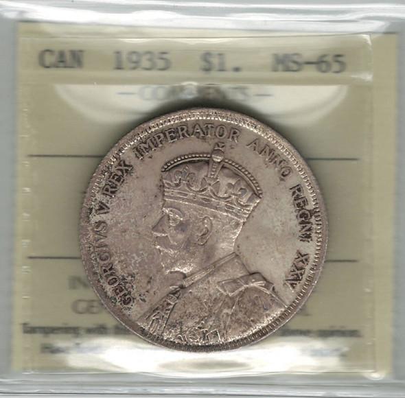 Canada: 1935 $1 ICCS MS65
