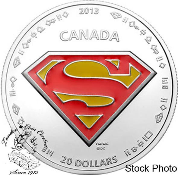 Canada: 2013 $20 Superman™'s S-shield Silver Coloured Coin