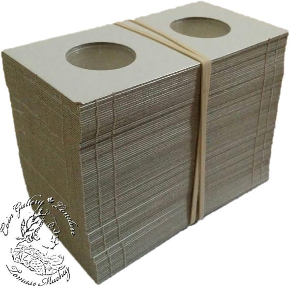 100 x 25 Cent size Cardboard 2x2 Flips (Holders)