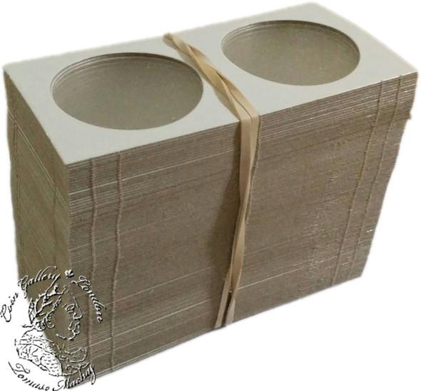 100 x Silver or Nickel Dollar size Cardboard 2x2 Flips (Holders)