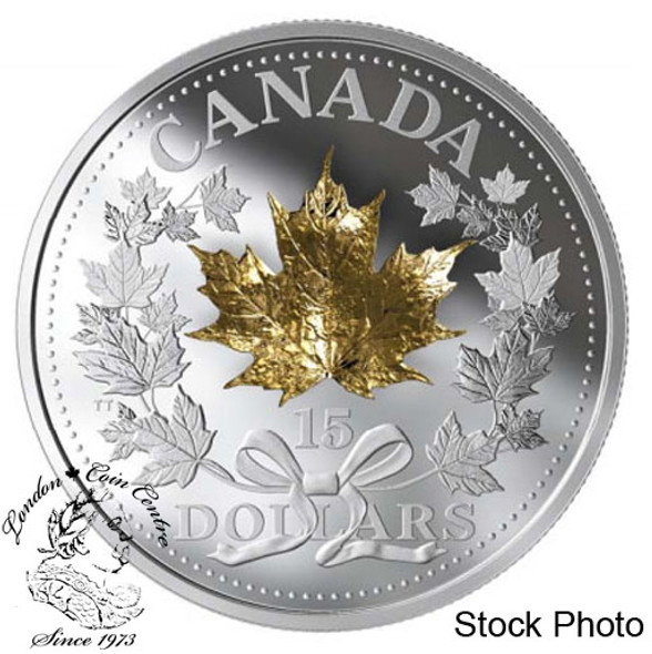 Canada: 2019 $15 Golden Maple Leaf Fine Silver Coin