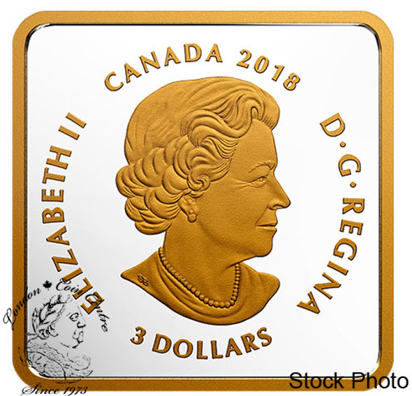 Canada: 2018 $3 Canadian Coasts: Atlantic Coves Pure Silver Gold-Plated Coin