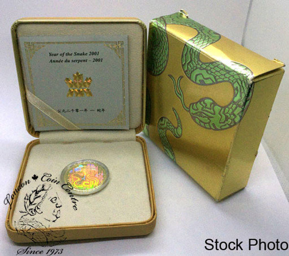 Canada: 2001 $150 The Year of the Snake Gold Hologram Coin
