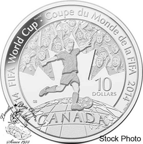 Canada: 2014 $10 FIFA 1/2 oz Pure Silver Coin