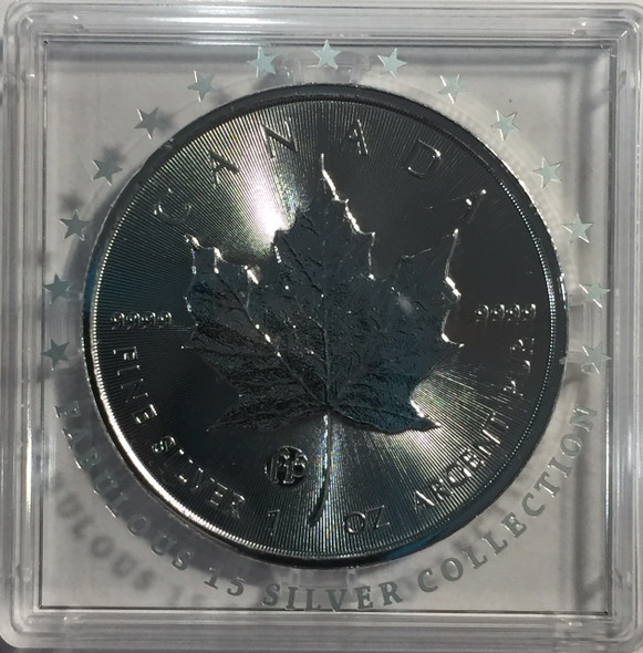 Canada: 2018 $5 1 oz Fabulous 15 Privy Silver Maple RARE!