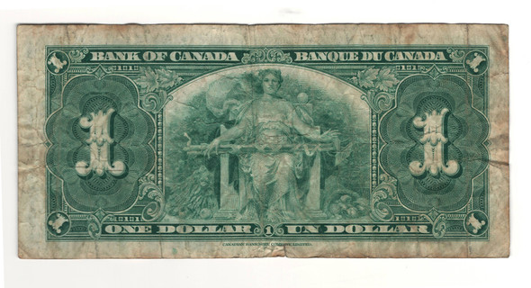 Canada: 1937 $1 Bank Of Canada Banknote BC-21c Lot#30