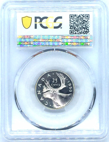 Canada: 1950 25 Cents Specimen PCGS SP67 Tied Finest Graded