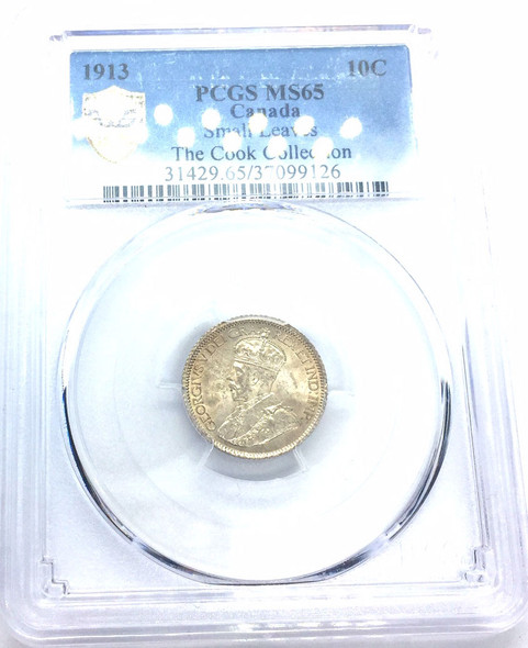 Canada: 1913 10 Cents Small Leaves PCGS MS65