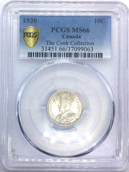 Canada: 1930 10 Cents PCGS MS66