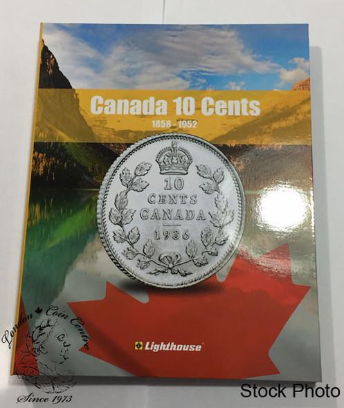 Canada 10 Cent Vista Coin Album 1858 - 1952 (Colourful)