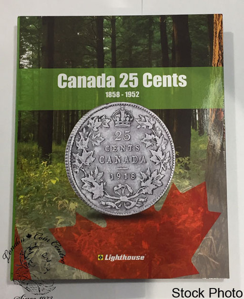 Canada 25 Cent Vista Coin Album 1858 - 1952 (Colourful)