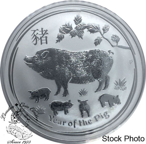 Australia: 2019 $1 Year of the Pig 1 oz. Pure Silver Coin
