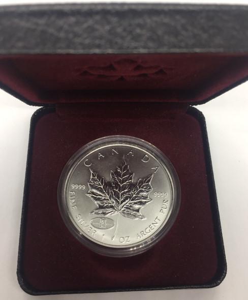 Canada: 1998 $5 1 oz 1908-1998 Anniversary of RCM Privy Silver Maple