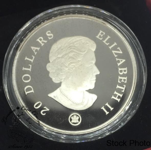 Canada: 2007 $20 Blue Crystal Snowflake Silver Coin