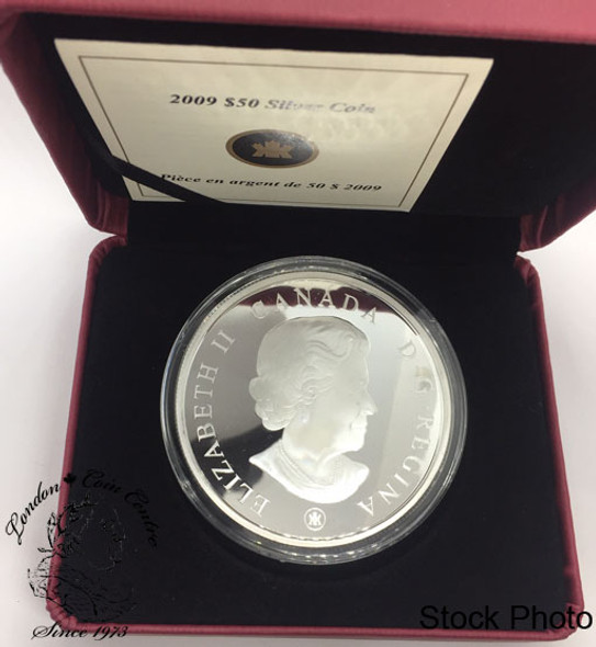 Canada: 2009 $50 150th Anniversary of the Construction of Parliament Buildings  5 oz Pure Silver Coin