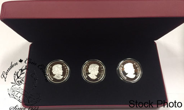 Canada: 2011 $15 Continuity of the Crown 3-Coin Sterling Silver Set
