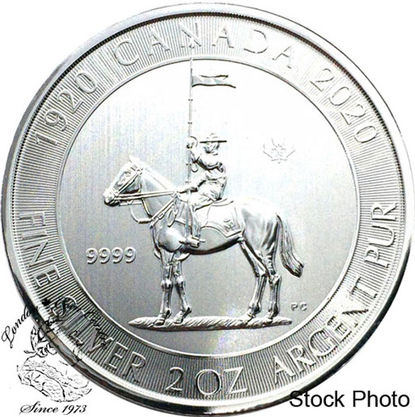 Canada: 2020 $10 RCMP Royal Canadian Mounted Police 100th Anniversary 2 oz. Pure Silver Coin