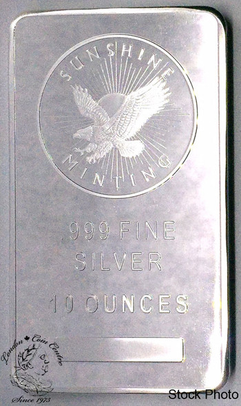 Generic .999+ 10 Oz Silver Bar