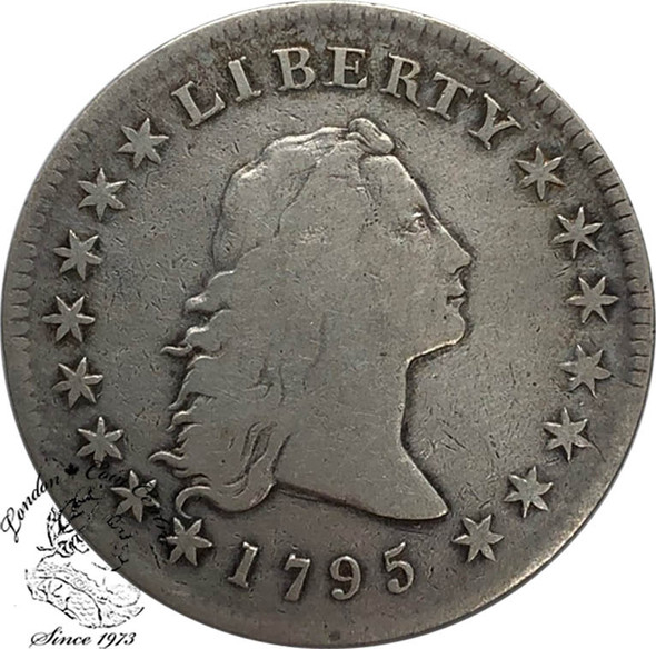 United States: 1795 Flowing Hair Silver Dollar